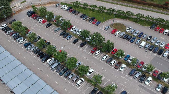 U tijeku je  obnova horizontalne prometne signalizacije na javnim parkiralištima
