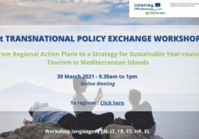 Prva online radionica o transnacionalnoj razmjeni politika u okviru projekta WINTER MED