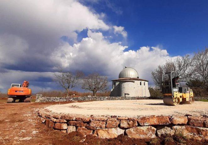 Na Tićanu započeli radovi na pripremi terena za postavljanje geodezijske kupole