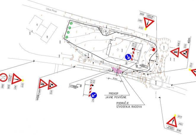 Od ponedjeljka 08.03. privremena regulacija prometa kod kružnog raskrižja na Finidi