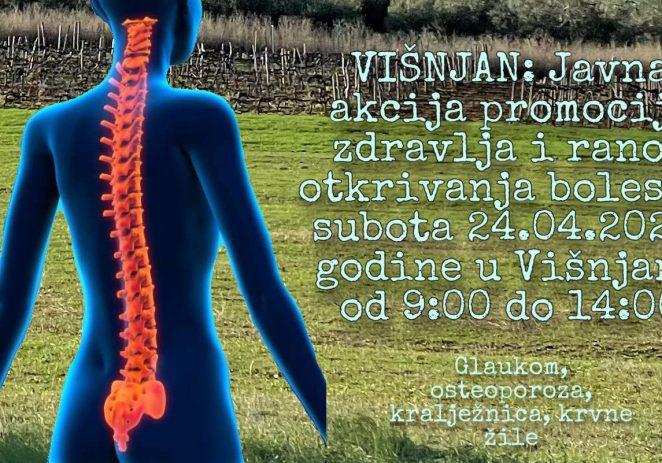Javna akcija promocije zdravlja i ranog otkrivanja bolesti u subotu 24.04.2021. godine u Višnjanu od 9:00 do 14:00
