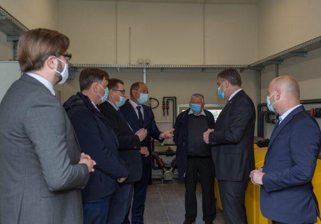 Premijer Vlade Republike Hrvatske posjetio je u petak, 16. travnja 2021. Višnjan