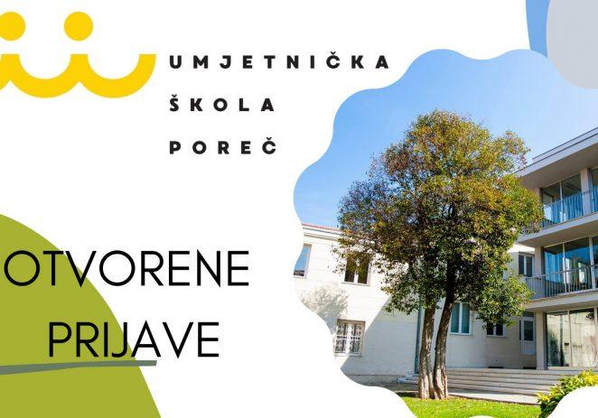 Umjetnička škola Poreč objavljuje JAVNI NATJEČAJ  za upis u prvi razred osnovnog glazbenog obrazovanja i prvi razred osnovnog plesnog obrazovanja za školsku godinu 2021./2022.