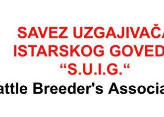 U nedjelju, 25.07.2021. godine u Višnjanu na Sajamskom prostoru održati će se 22. Izložba rasplodnih grla istarskog goveda