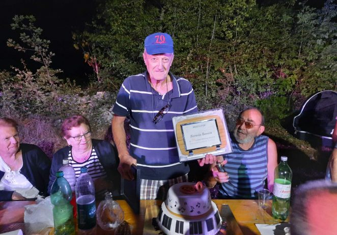 Član limene glazbe KUD-a Matka Laginje Sveti Lovreč – Ferucio Banić proslavio 70 godina aktivnosti u limenoj glazbi !