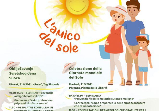 U utorak 21.09. na Trgu slobode obilježavanje Svjetskog dana Sunca – predavanja, likovne radionice i konzultacije kako pravilno izlagati kožu suncu