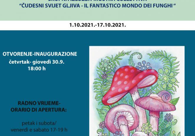 """Likovna Udruga Poreč izlaže u Novigradu na izložbi """"Čarobni svijet gljiva"""""""