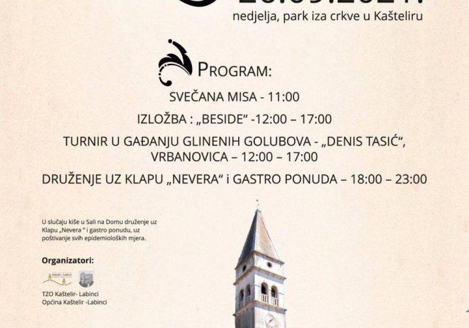 U nedjelju, 26. rujna u Kašteliru se obilježava Kuzminje