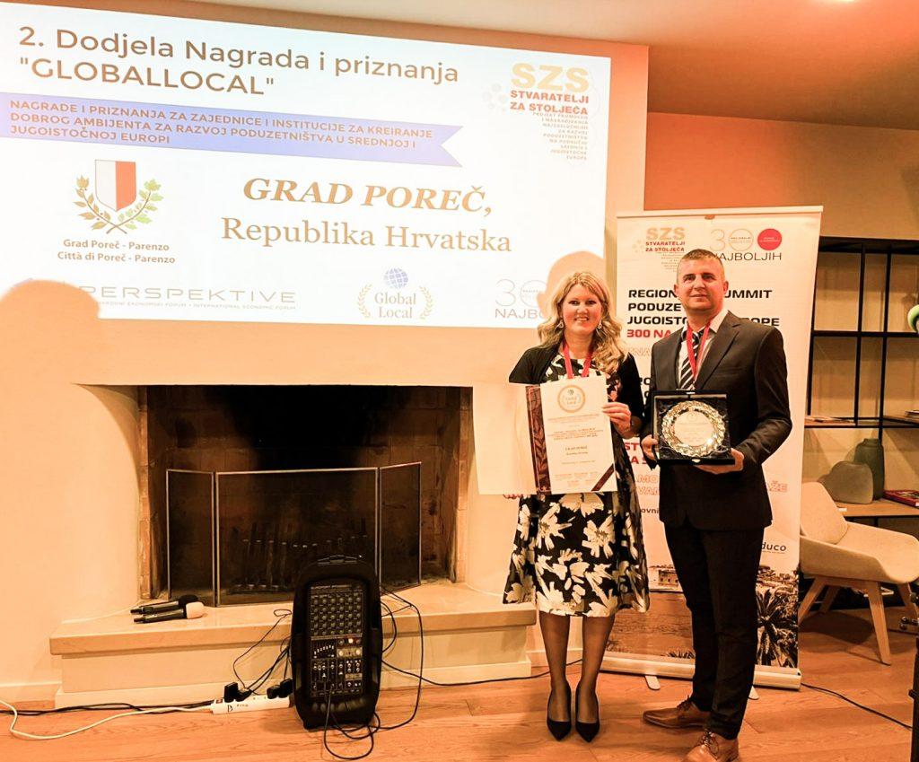 Poreč dobitnik nagrade i primjer dobre prakse za razvoj poduzetništva na regionalnom summitu poduzetnika Srednje i Jugoistočne Europe