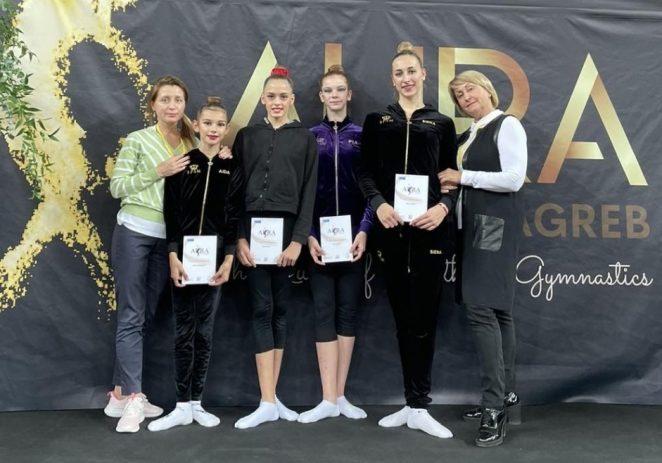 Gimnastičarke Kluba ritmičke i estetske gimnastike Galatea sudjelovale na 6. Aura cupu